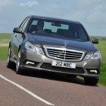 Mercedes E220 in motion