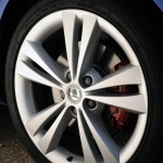 Octavia vRS - wheel & red brake calliper detail