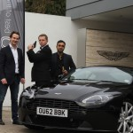 Skyfall - Aston Martin winner Sohail Ahmed (right) with Max Ryder)