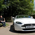 Tim Barnes-Clay with Aston Martin V8 Vantage Roadster